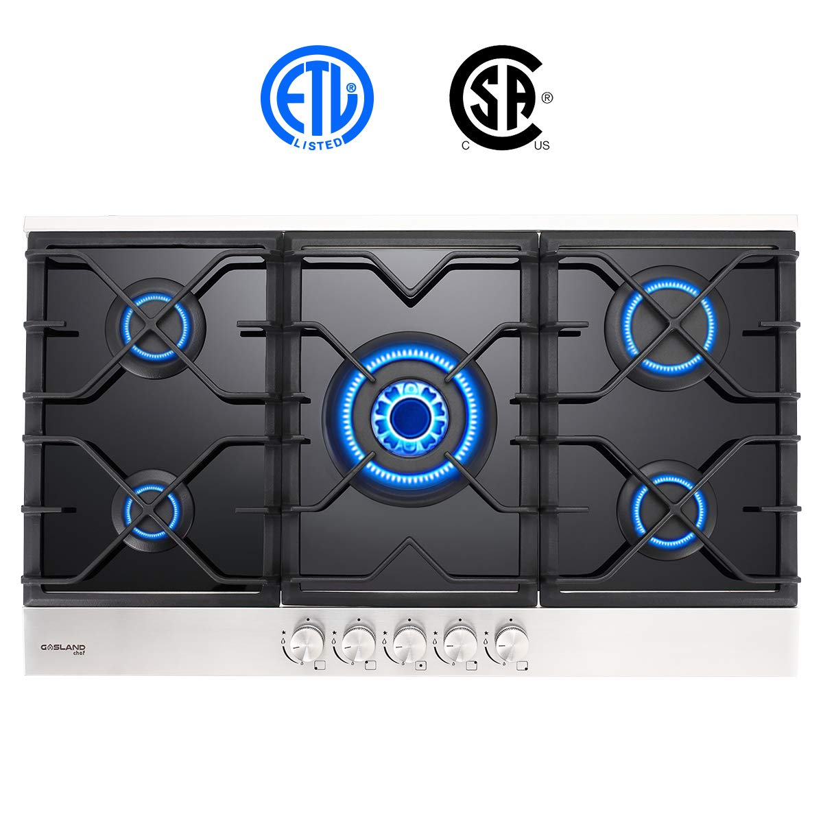 Gasland Chef Gh90bf 36 Built In Gas Stove Top Tempered